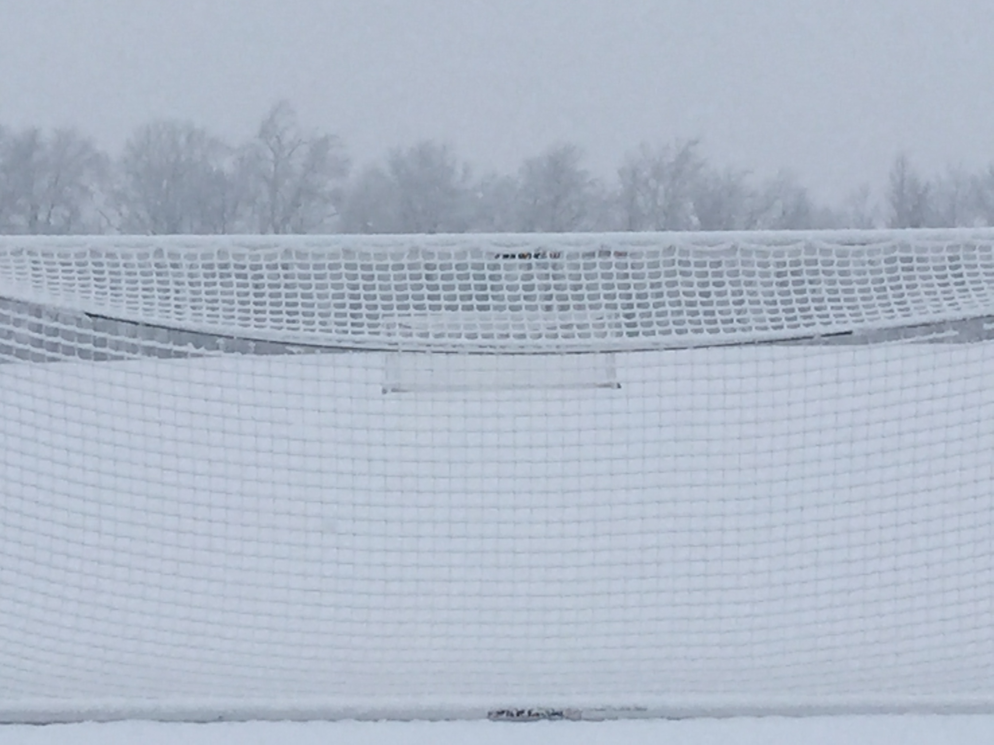 Snow Covered Athletic Fields - January 2015