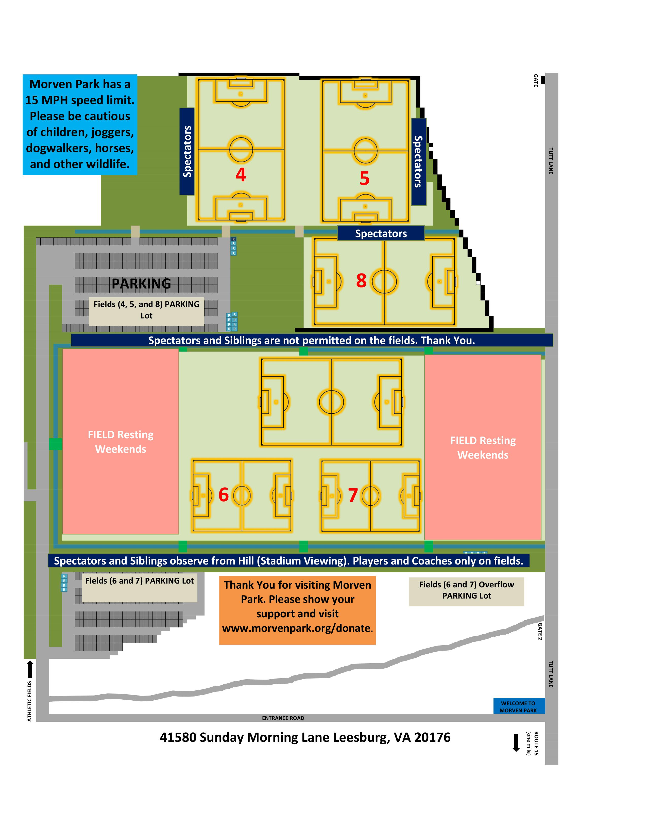 September 14-15 Soccer Field Layout