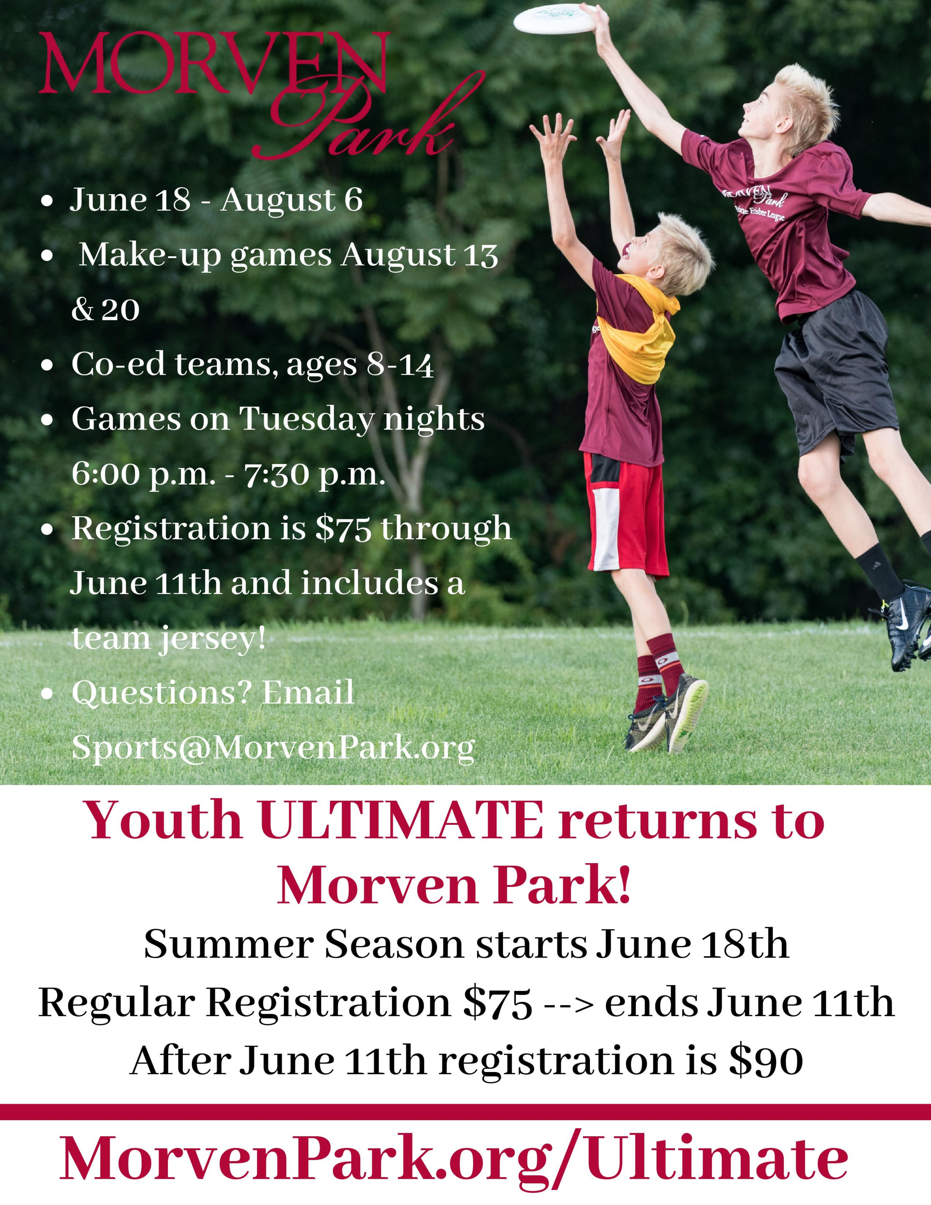 Youth Ultimate Online Registration